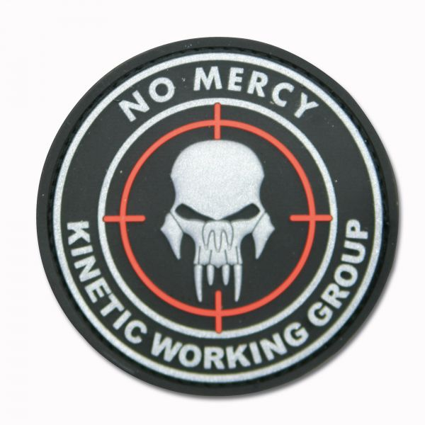Patch 3D NO MERCY - KINETIC WORKING GROUP nero