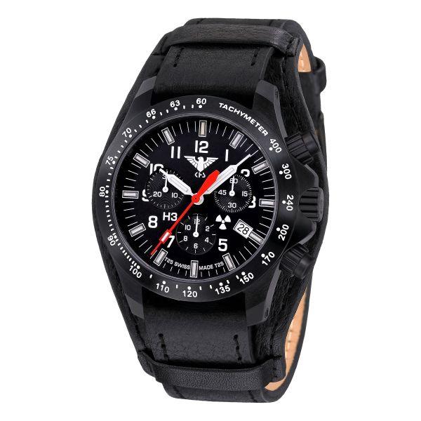 KHS orologio Platoon Cronografo LDR cinturino in pelle G-pad
