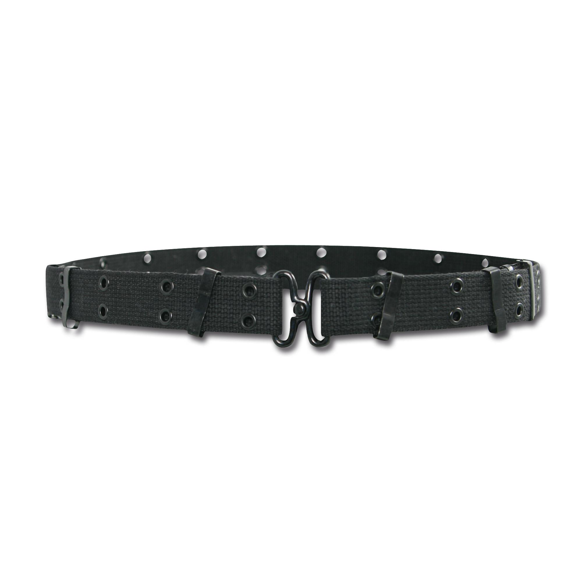 Mini cintura con fori, colore nero