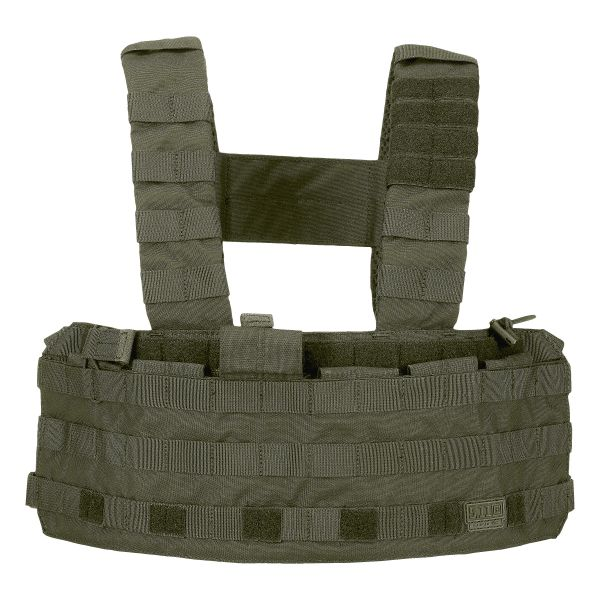 Gilet tattico Chest Rig Tac Tec, marca 5.11, colore verde oliva