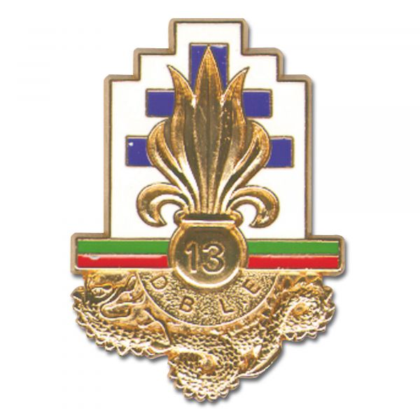 Distintivo francese in metallo Legione 13.DBLE