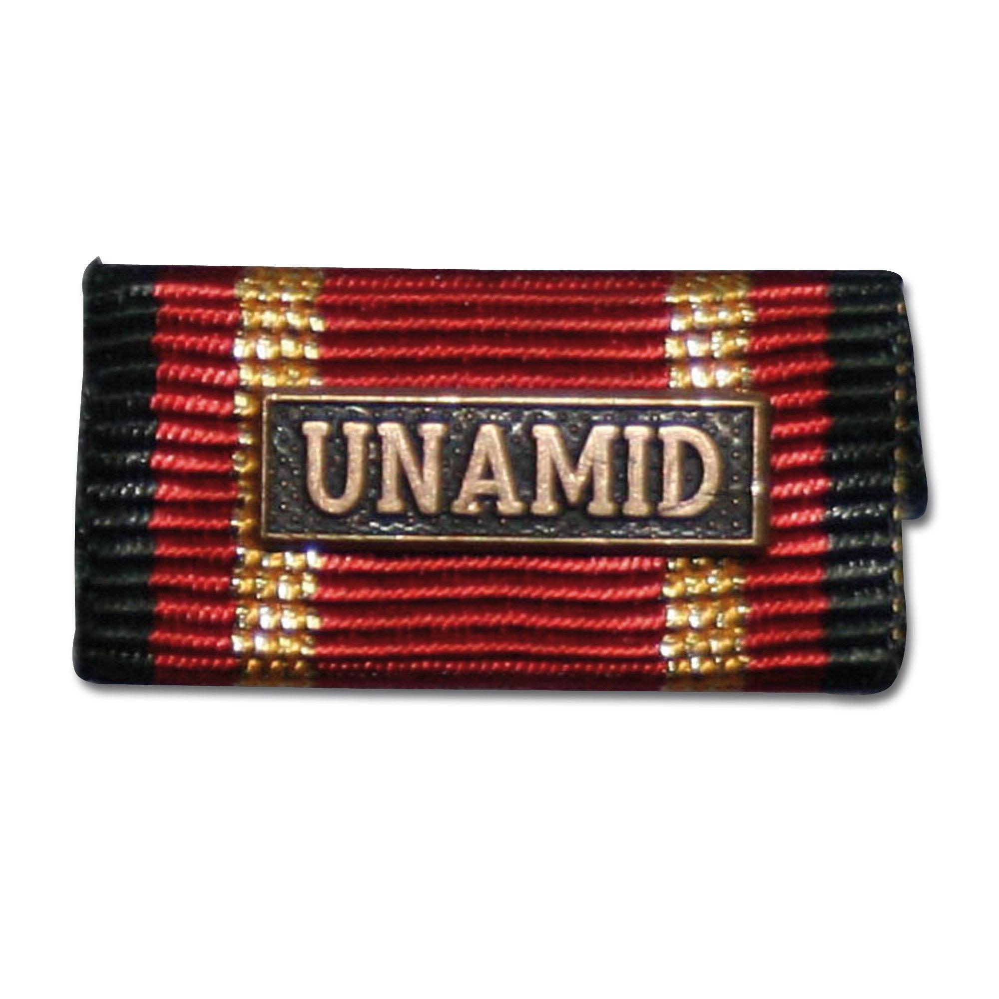 Label Pin Auslandseinsatz UNAMID bronze