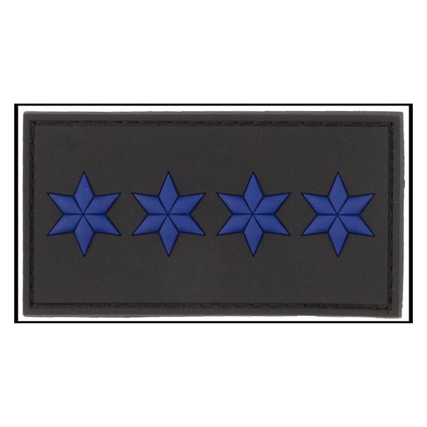 Distintivo di grado 3D Capo Polizia nero