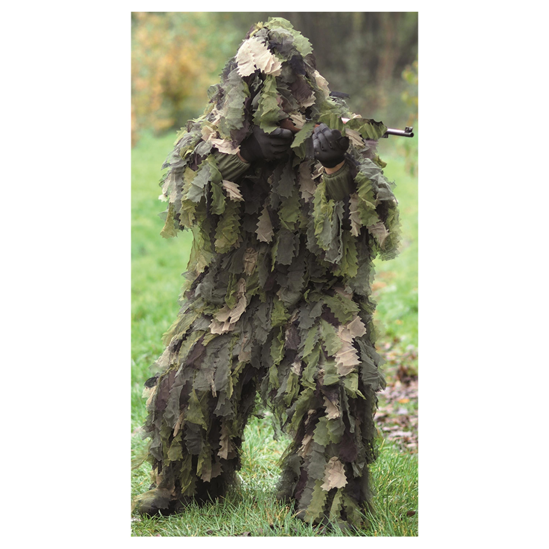 Ghillie mimetico, modello Oak Leaf 3D, woodland, marca Mil-Tec