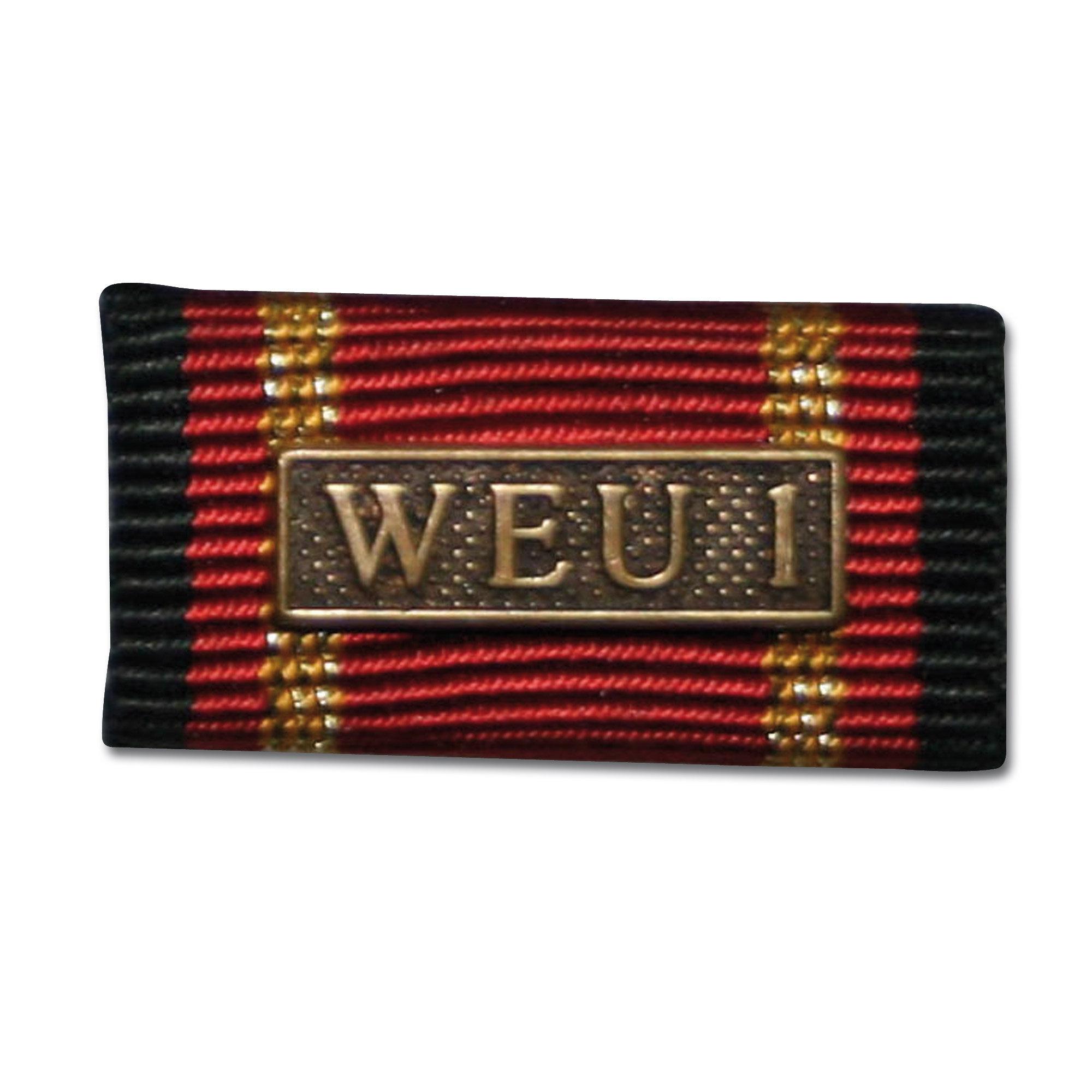Label Pin Auslandseinsatz WEU 1 bronze
