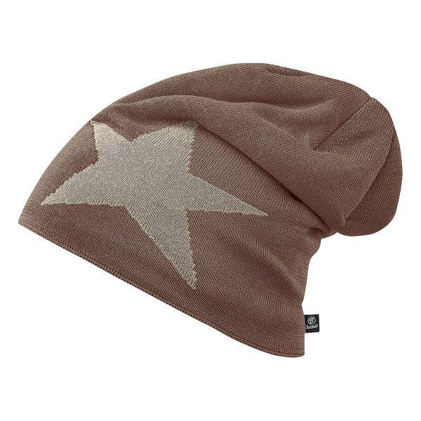 Berretto in tessuto Jersey, serie Star, Brandit, kaki/marrone