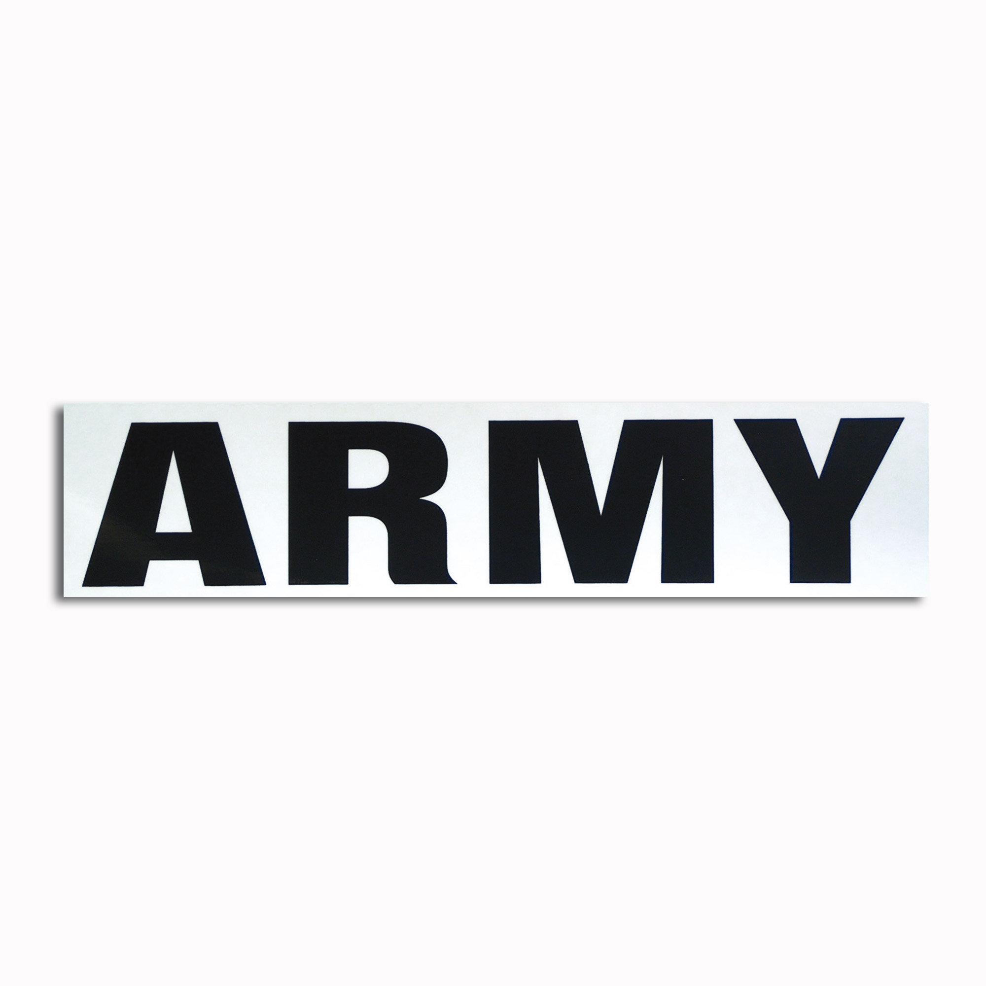 Transparent sticker Army