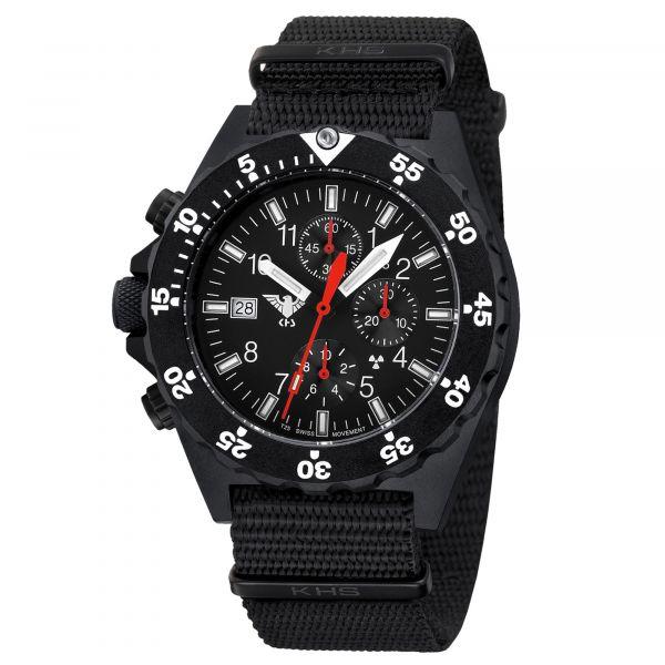 Cronografo Shooter marca KHS cinturino NATO nero