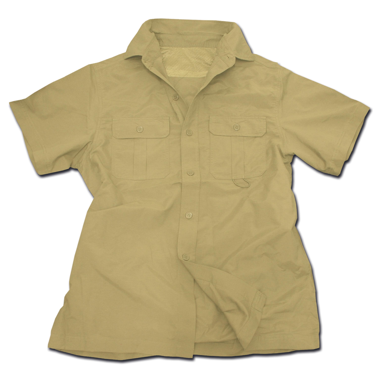 Camicia Outdoor manica corta cachi