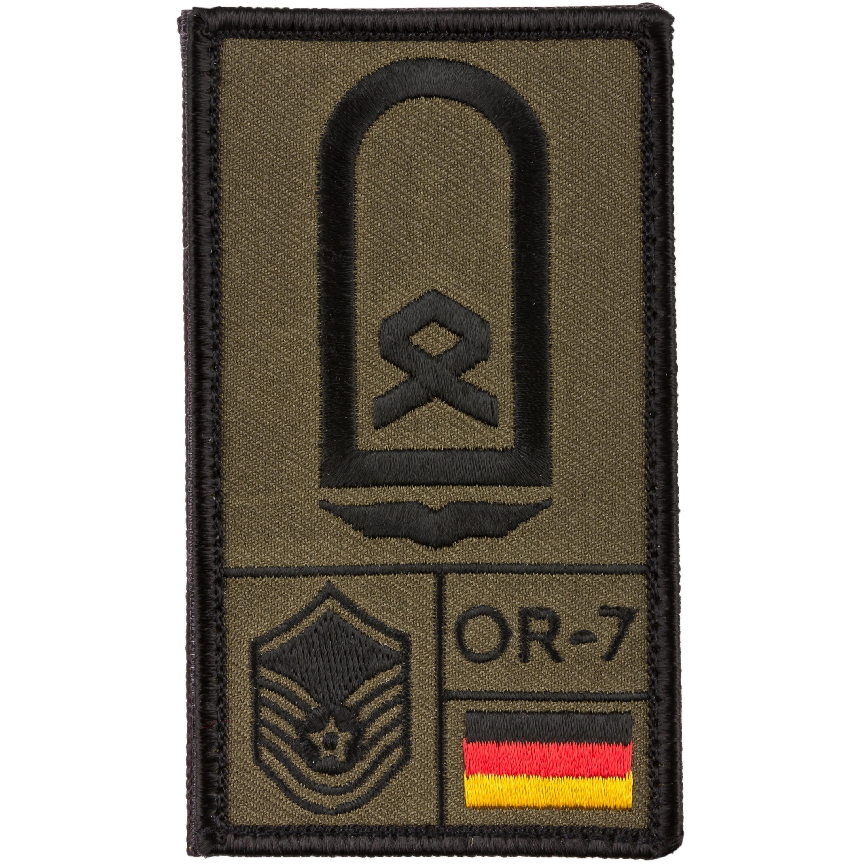 Patch di rango Sergente aeronautica militare Café Viereck oliva