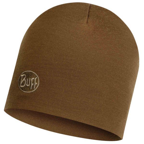 Cappello Merino thermal marca Buff solid tundra kaki