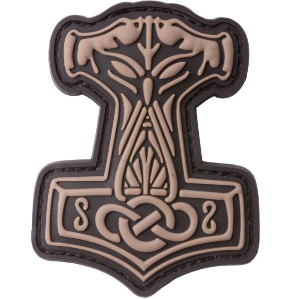 Patch 3D martello di Thor marca JTG coyote brown