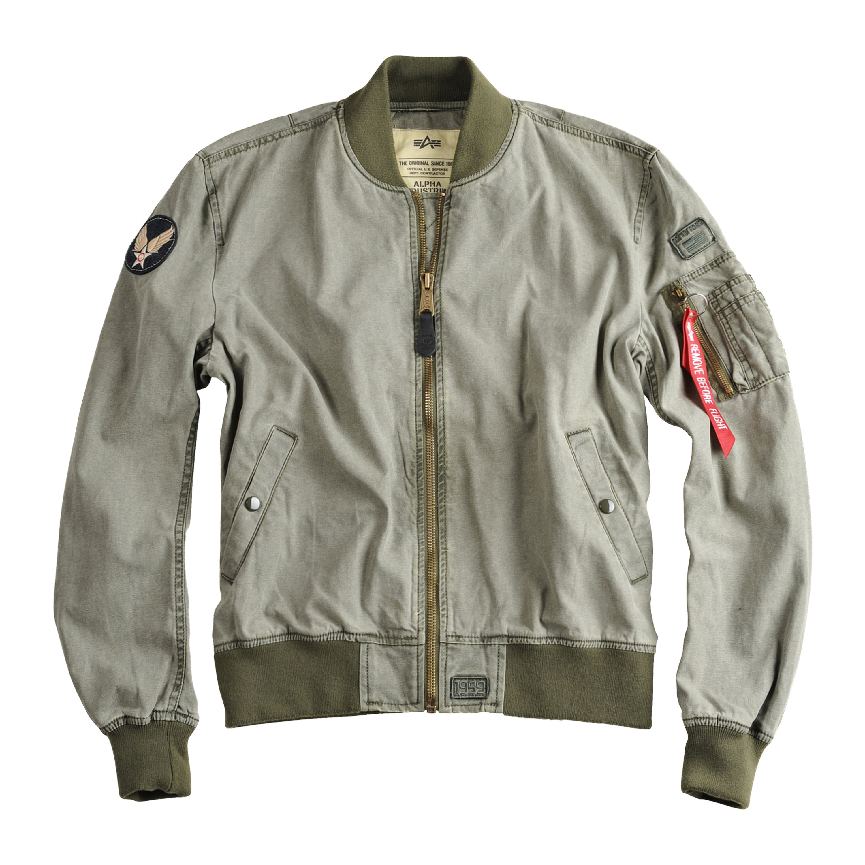 Giacca Volo Alpha Industries MA1 Groundcrew oliva