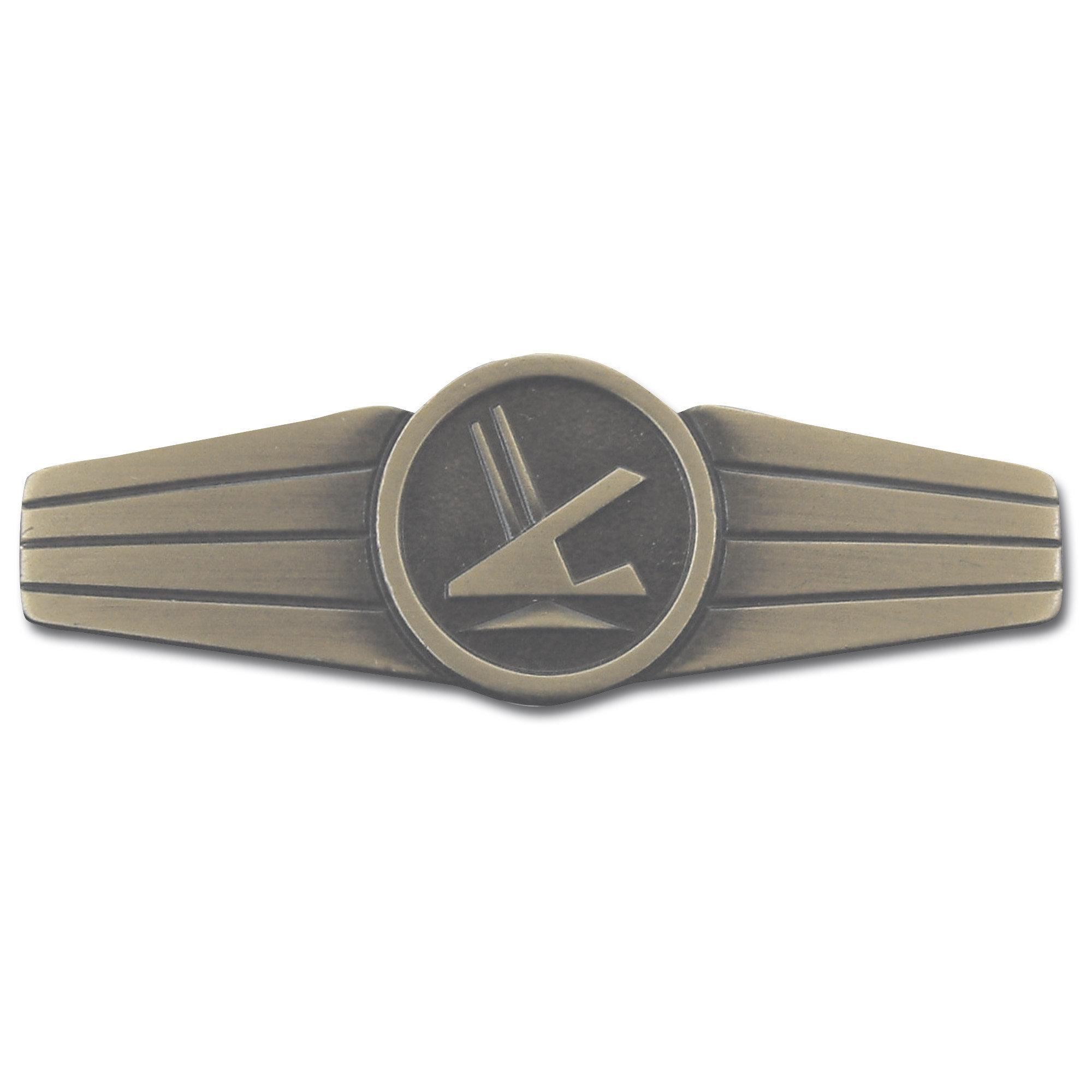 insignia metal Sicherungspersonal bronce