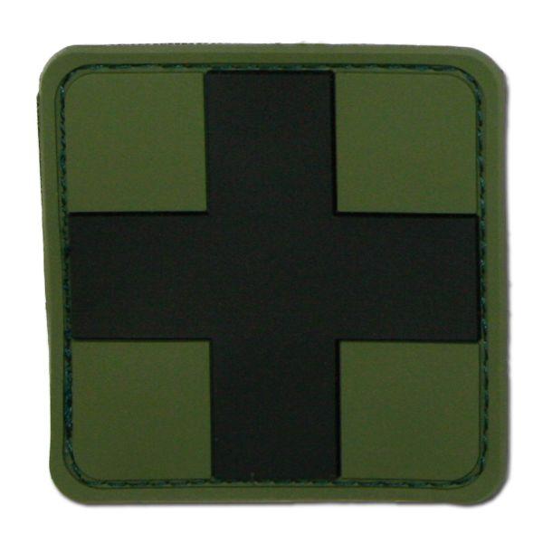 3D-Patch Croce Rossa medica oliva-nero