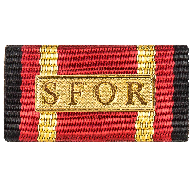 Medagliere a barra servizio d'ordine estero SFOR oro