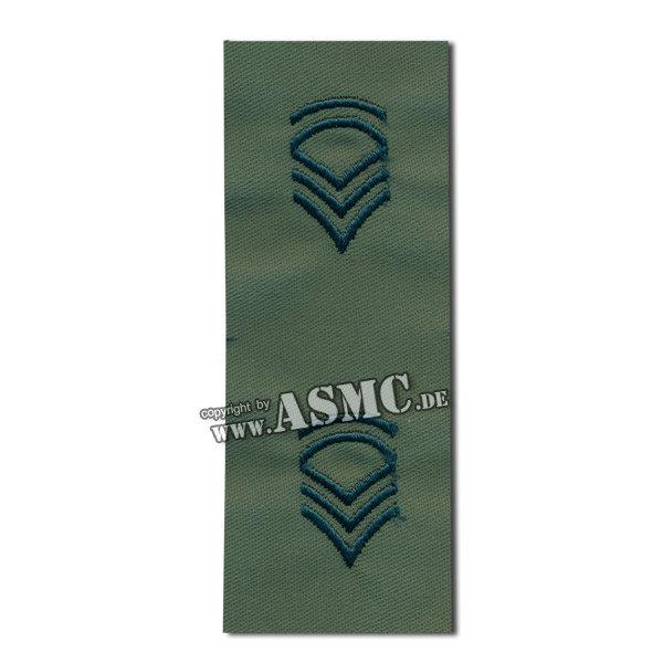 Patch di rango in tessuto Sergente US FC verde oliva