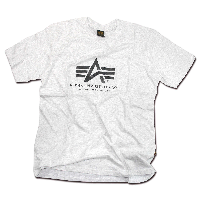 T-shirt Basic, Alpha Industries, grigia