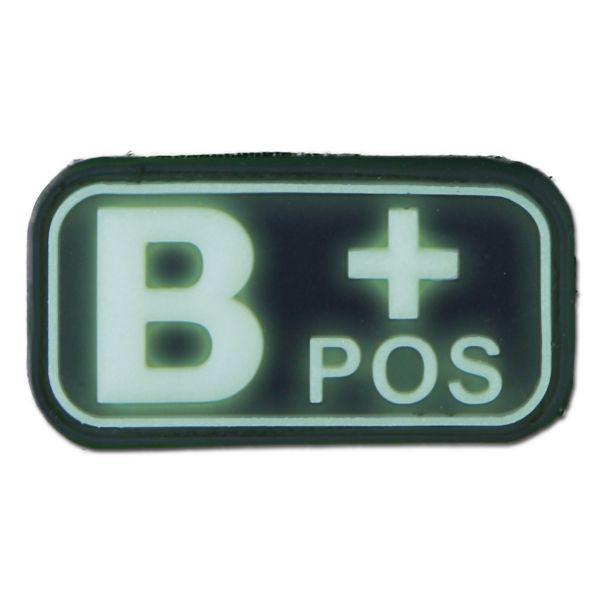 Patch 3D, gruppo sanguigno B+ Positivo, fosforescente