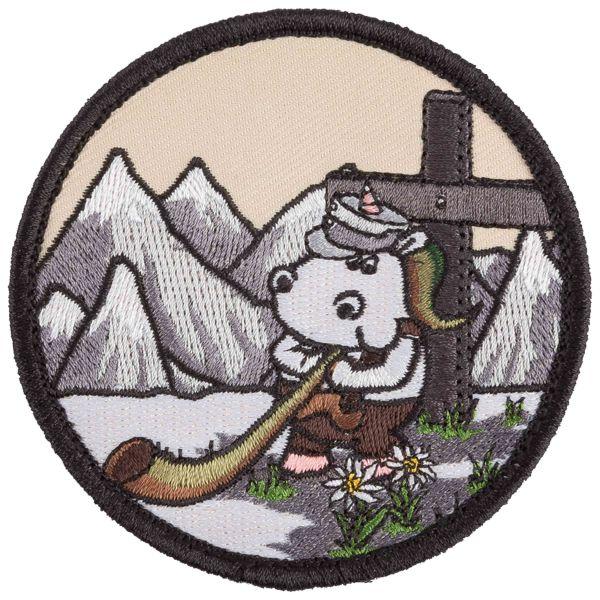 Patch Café Viereck unicorno cacciatore di montagna