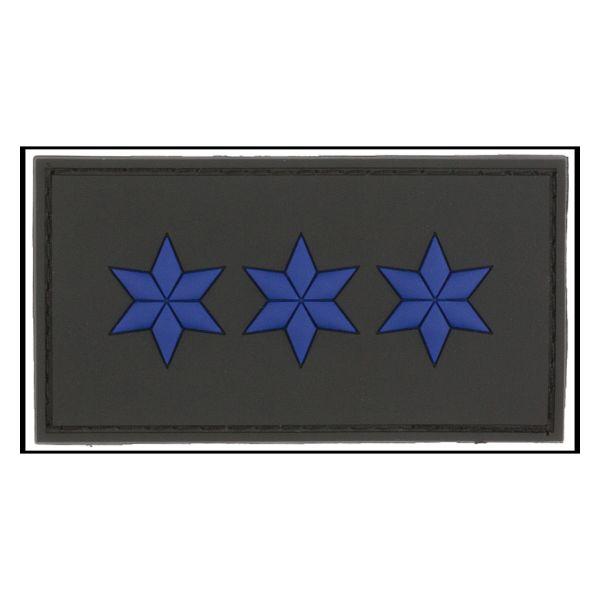 Distintivo di grado 3D Ispettore Capo Polizia nero