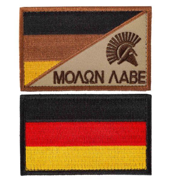 Set 2 patch TacOpsGear Molon Labe & bandiera tedesca