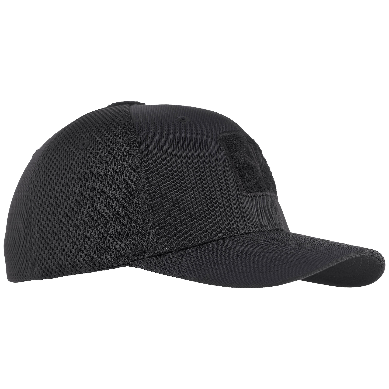 Berretto con visiera in mesh flexfit ibrido marca LMSGear nero
