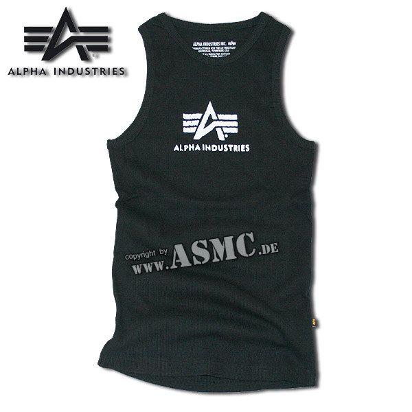 Canotta Alpha Logo nero / bianco