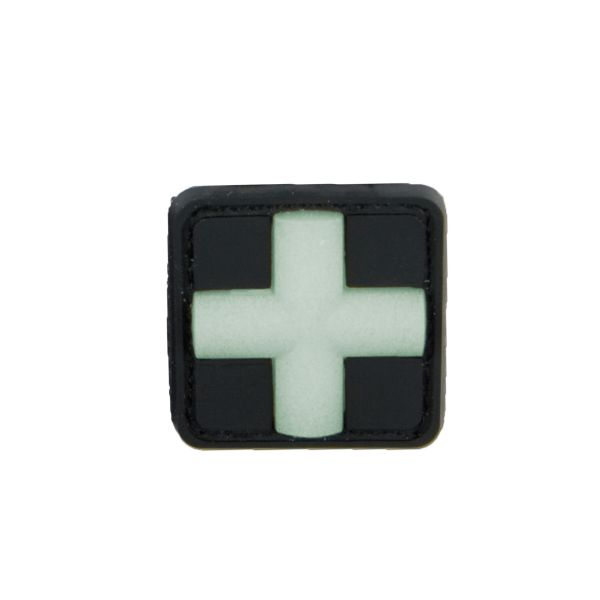 3D-Patch Red Cross Medical bagliore nel buio 25 mm