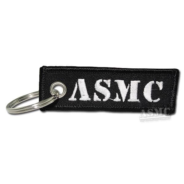 Portachiavi ASMC nero/bianco