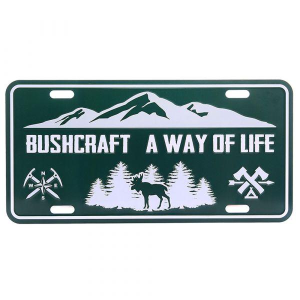 101 Inc. Nummernschild Bushcraft