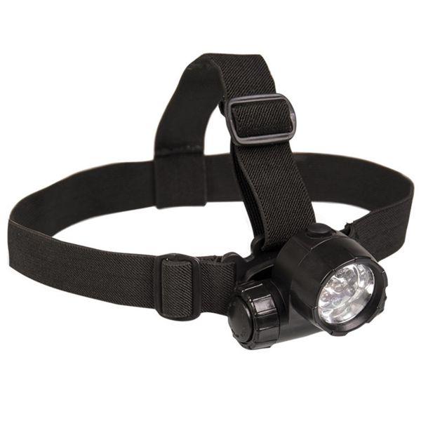 Torcia frontale a 6 LED plus 1 marca Mil-Tec nera