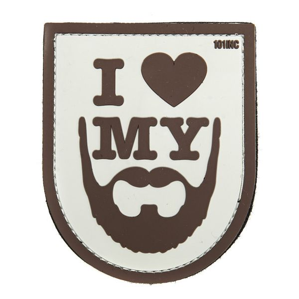 Patch 3D I love my Beard colore marrone