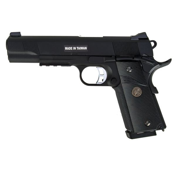 Pistola softair KJ Works M1911 MEU Full Metal GBB nera
