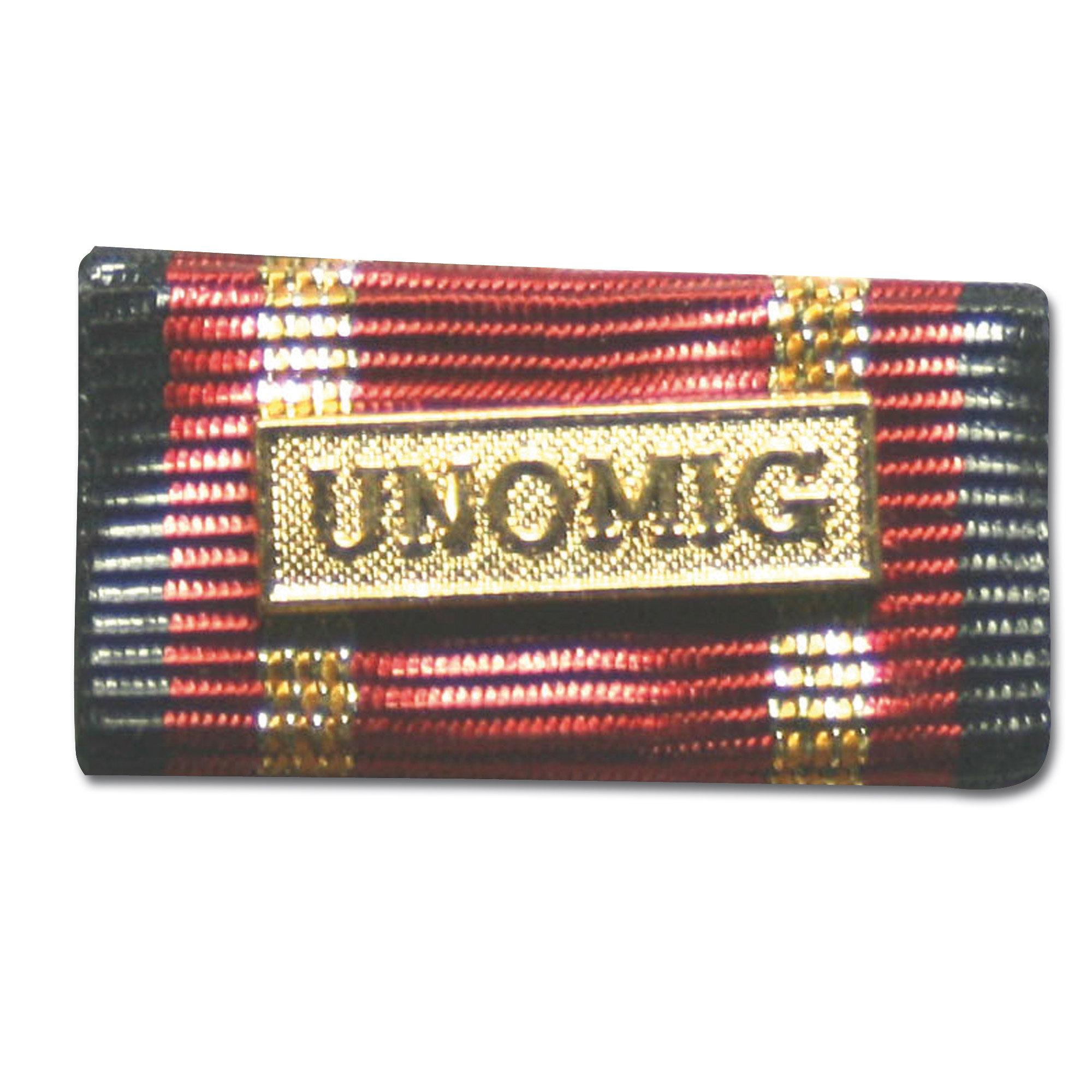 Label Pin Auslandseinsatz UNOMIG gold