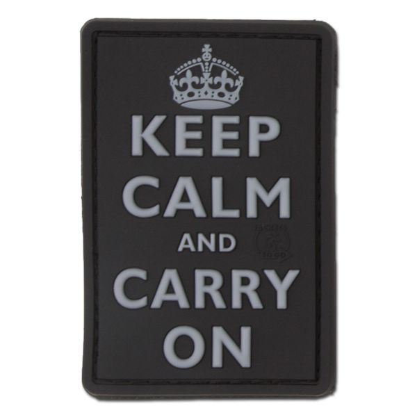 3D-Patch Keep Calm and Carry su swat