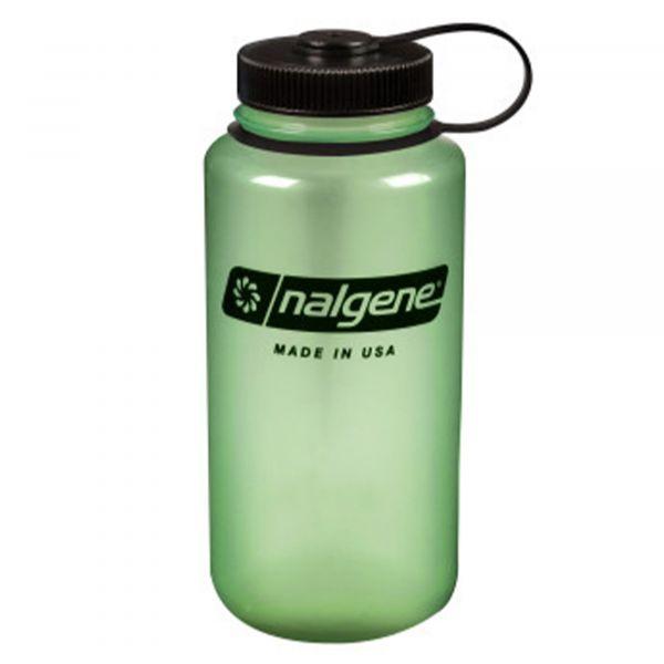 Nalgene Trinkflasche Weithals 1 L glow grün