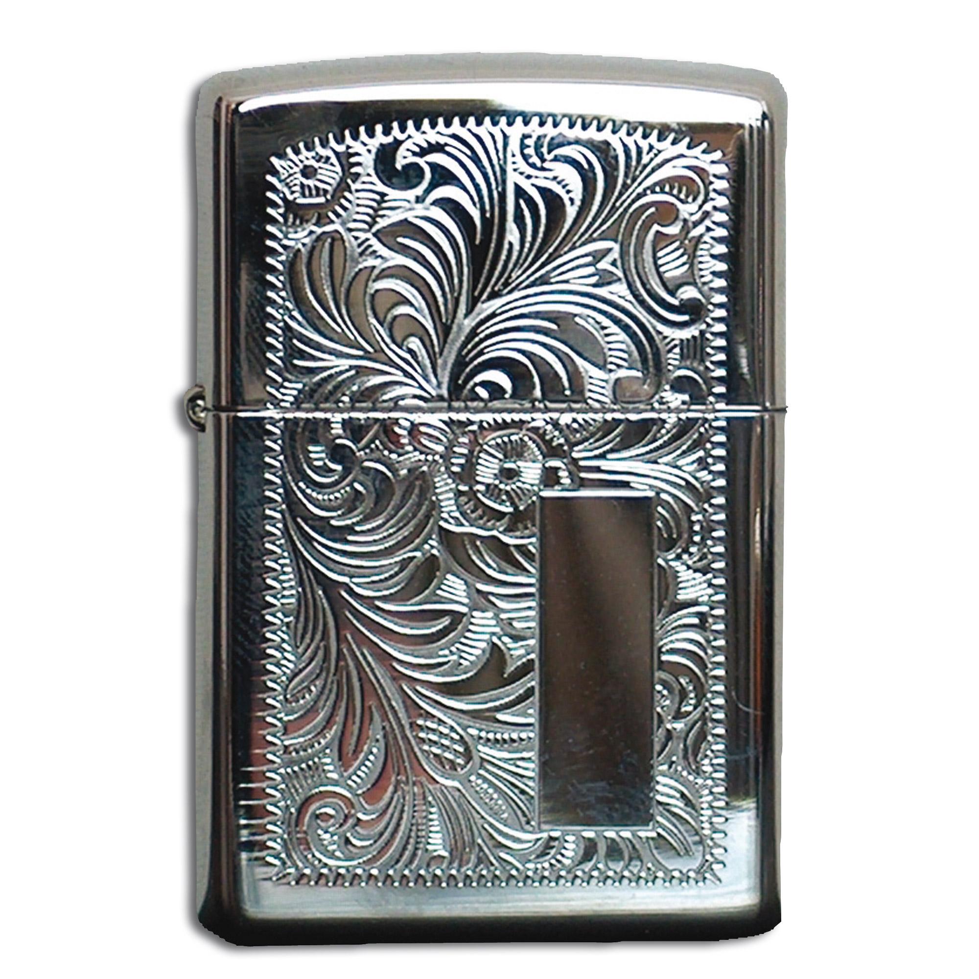 Accendino Zippo con superficie ornata argento