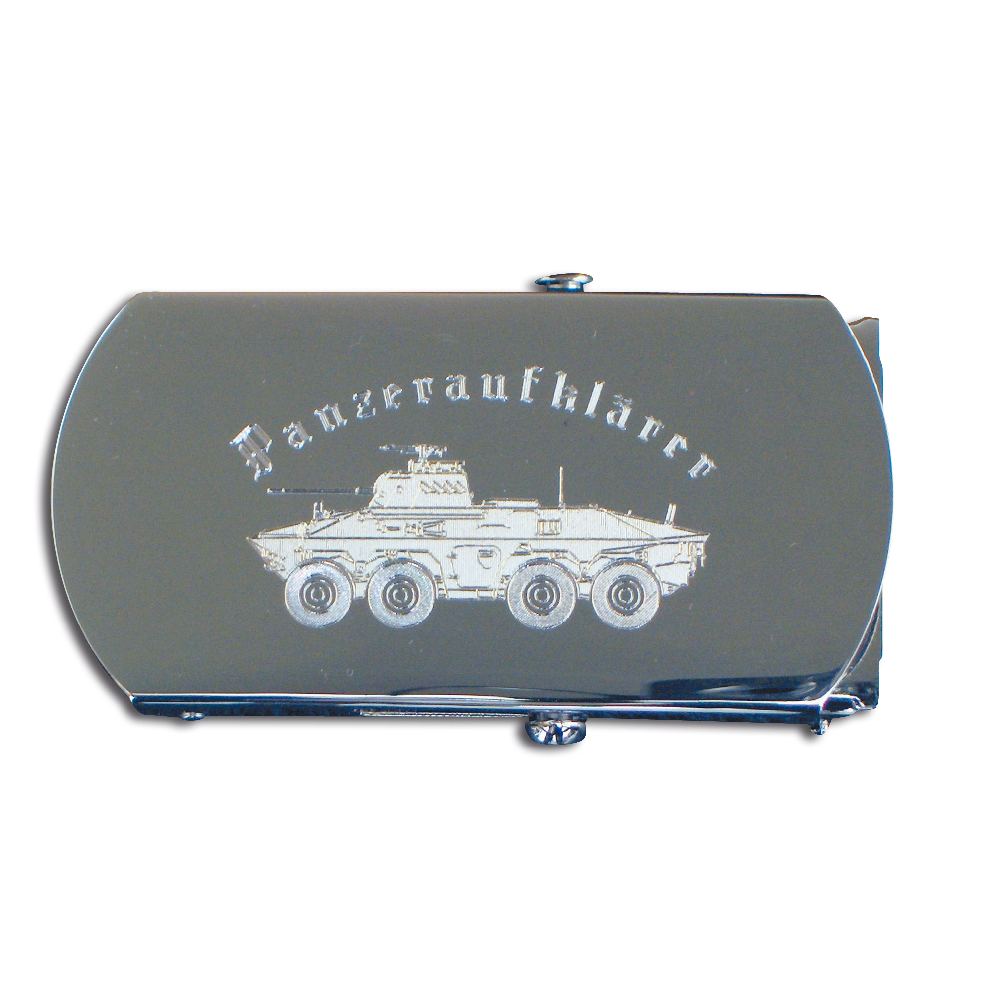Web belt with engraved buckle Panzeraufklärer