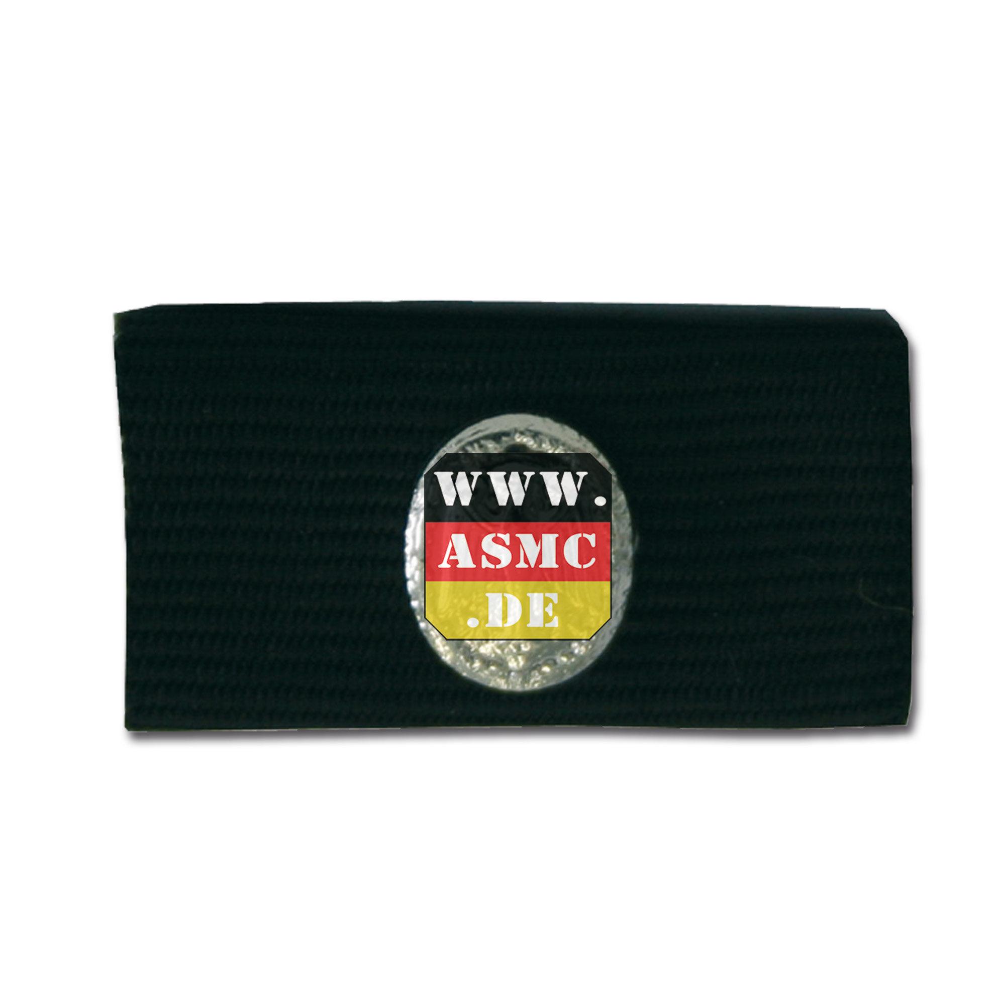 Nastrino decorazione BW con distintivo di grado argento/nero