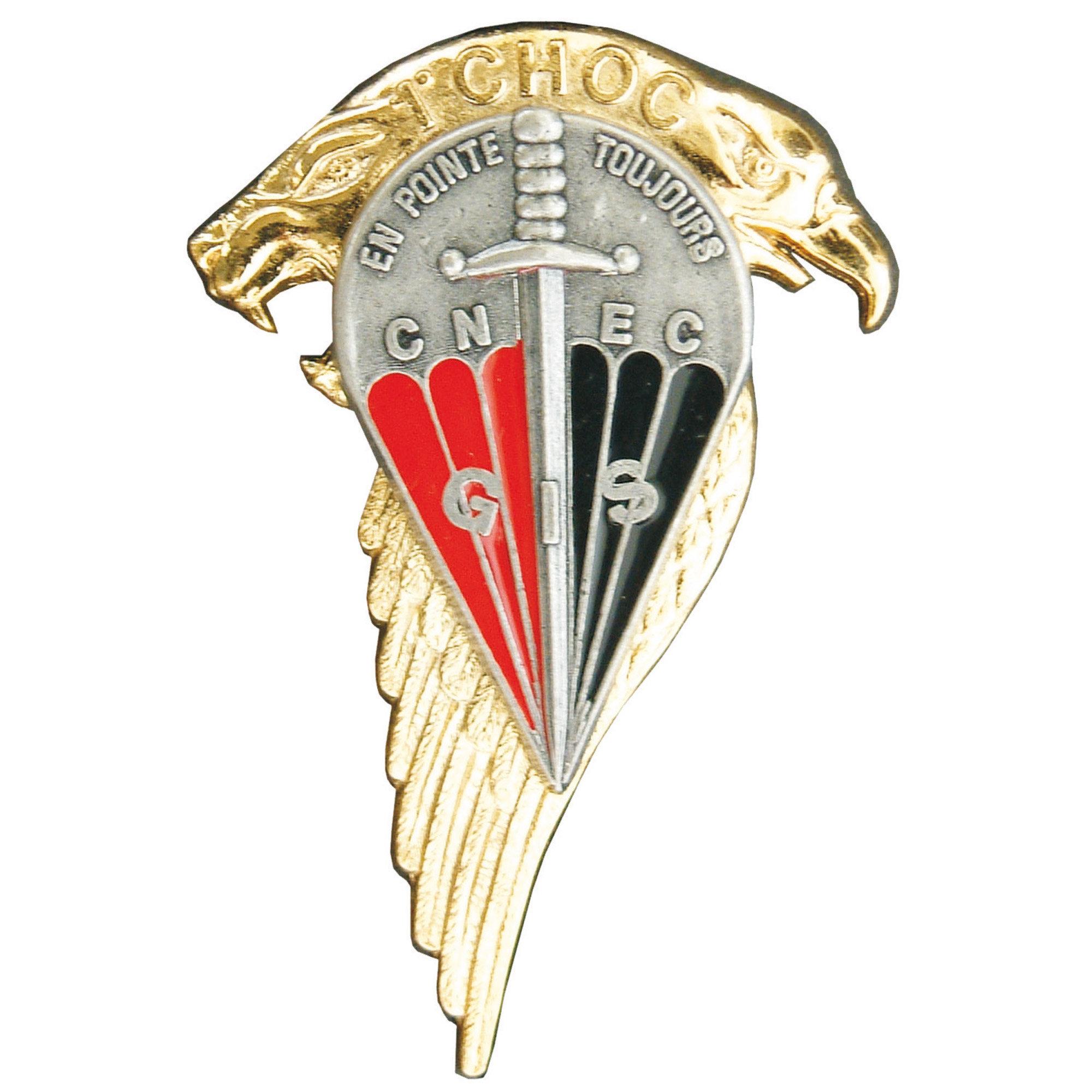 French metall insignia CNEC GIS 1er Choc