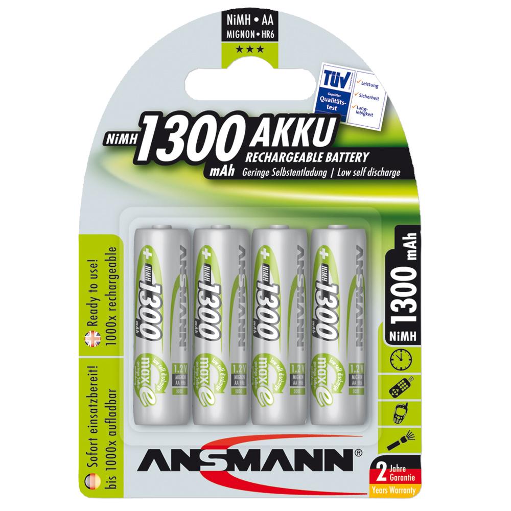 Batterie ricaricabili Ansmann NiMH Mignon AA Green-Line 4 pezzi