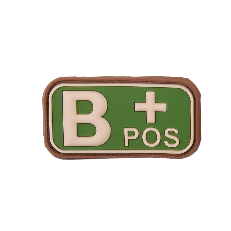 Patch 3D, gruppo sanguigno B+ Positivo, multicam