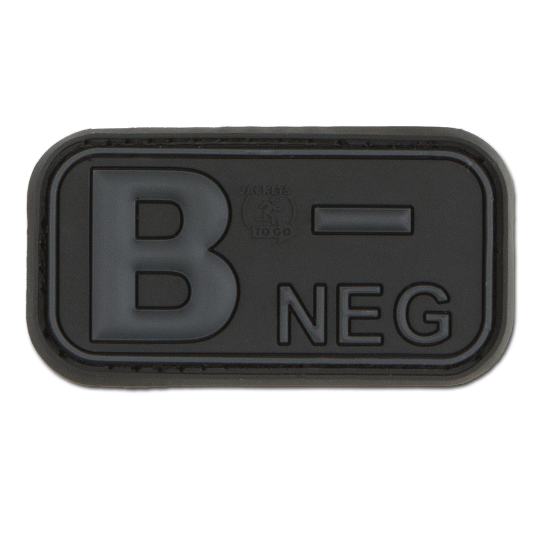 Patch 3D gruppo sanguigno B negativo blackops