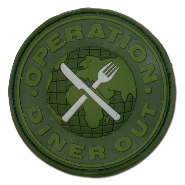 Patch 3D in gomma, Operation Diner Out Swat, forest