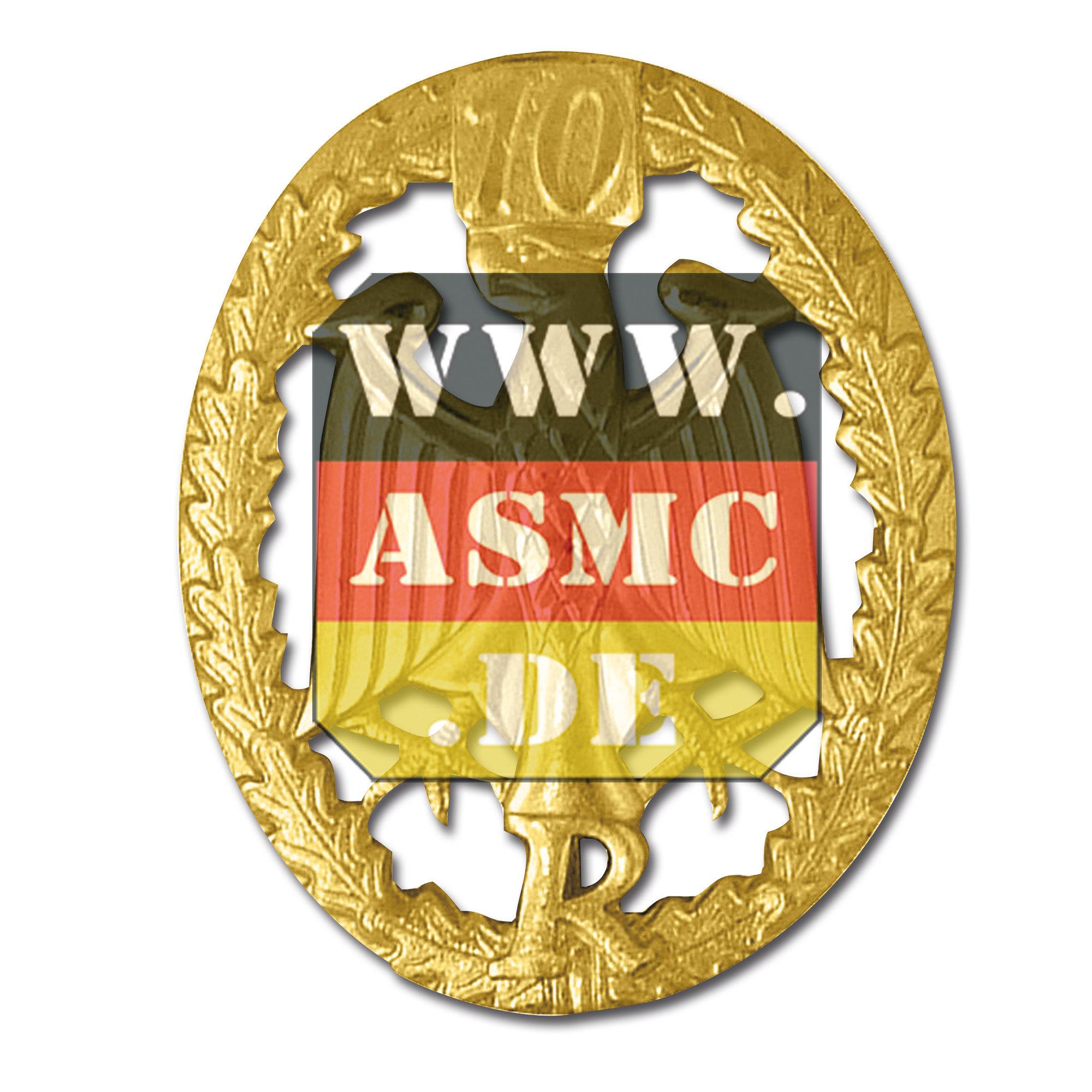 Leistungsabzeichen Reservisten Metall gold Zahl 10