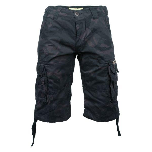 Pantaloncini 3/4, serie Jet, marca Alpha Industries, nero/camo