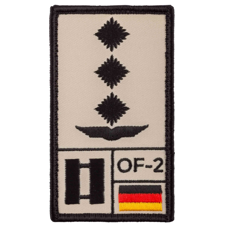 Patch di rango Capitano Aeronautica Café Viereck sabbia
