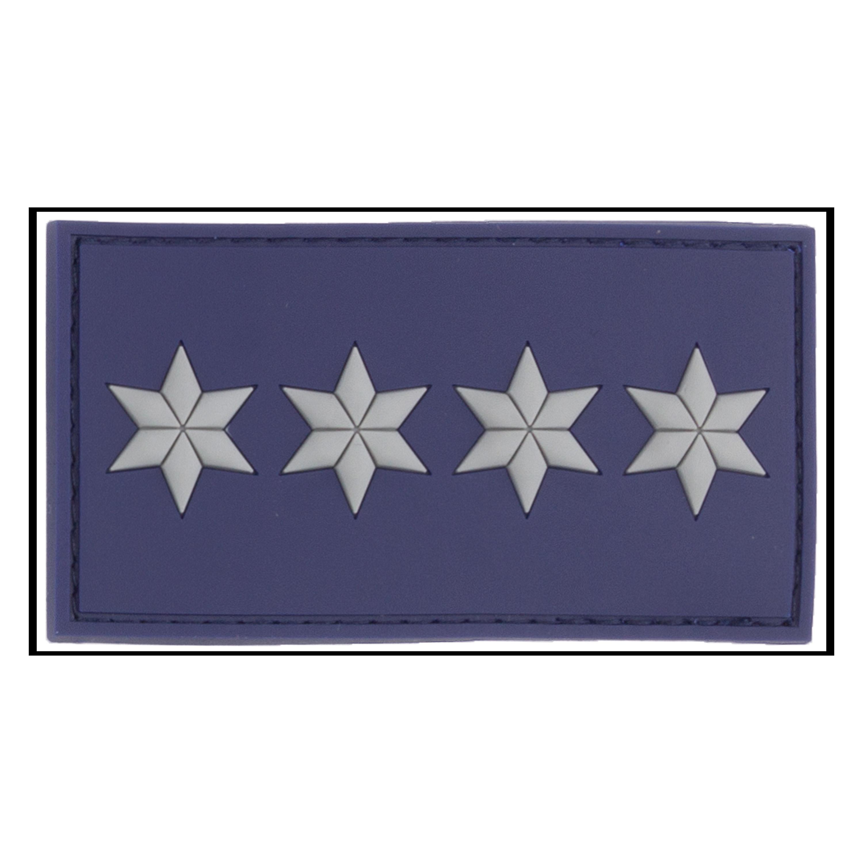 Patch di grado 3D Commissario Capo Polizia A12 blu polizia