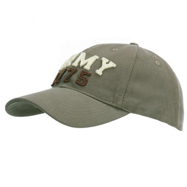 Fostex Garments Baseball Cap Stone Washed Army 1775 oliv